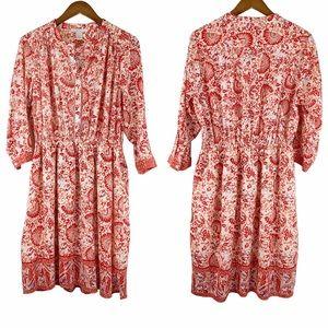 Saint Tropez West Red Floral Dress 12